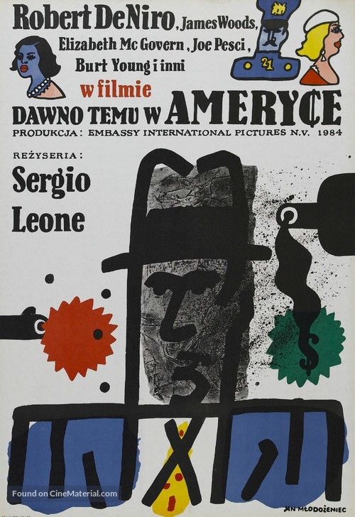 Once Upon a Time in America - Polish Movie Poster
