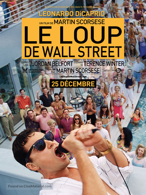 The Wolf of Wall Street - French Movie Poster