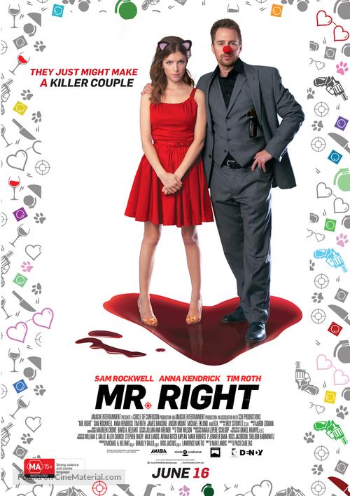 Mr. Right - Australian Movie Poster