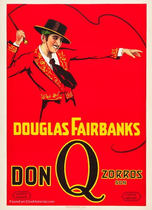 Don Q Son of Zorro - Swedish Movie Poster