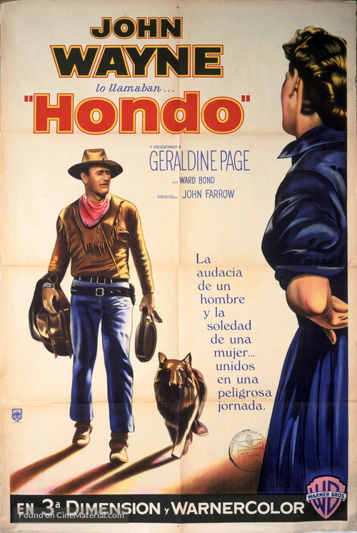 Hondo - Argentinian Movie Poster