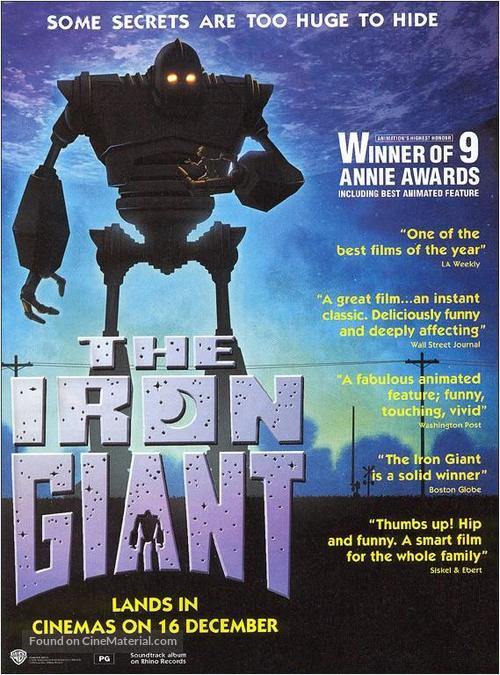 The Iron Giant - For your consideration movie poster