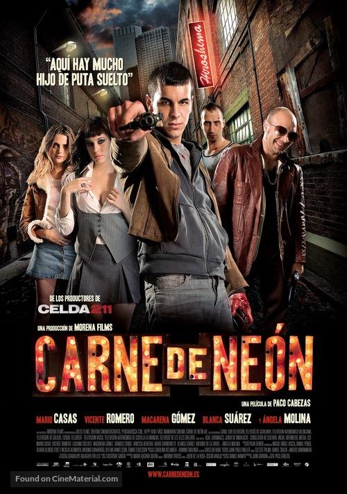 Carne de neón - Spanish Movie Poster