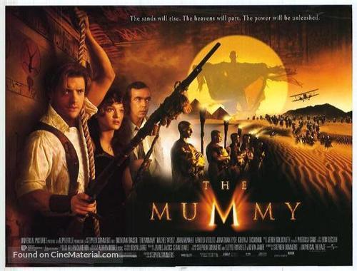 The Mummy 1999 British Theatrical Movie Poster