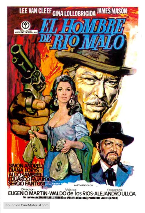 Bad Man's River - Spanish Movie Poster