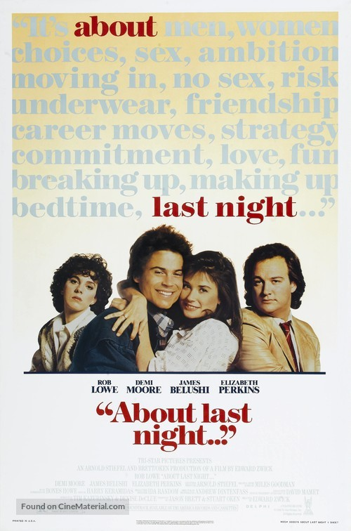 About Last Night... - Movie Poster