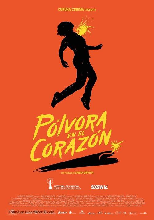 Pólvora en el corazón - Spanish Movie Poster