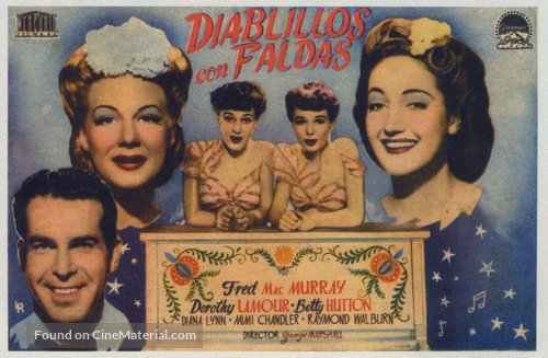And the Angels Sing - Spanish Movie Poster