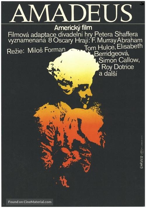 Amadeus - Czech Movie Poster