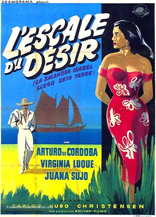 La balandra Isabel llegó esta tarde - French Movie Poster
