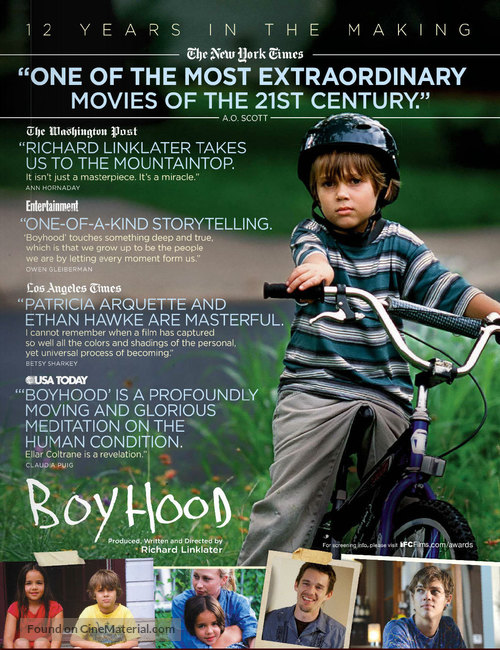 Boyhood - For your consideration movie poster