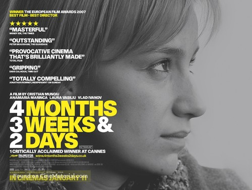 4 luni, 3 saptamini si 2 zile - British Movie Poster
