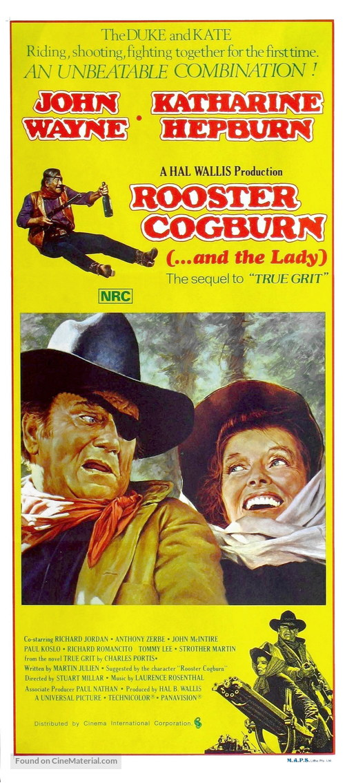 Rooster Cogburn - Australian Movie Poster