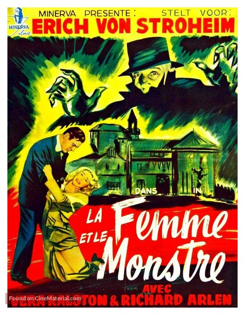 The Lady and the Monster - Belgian Movie Poster