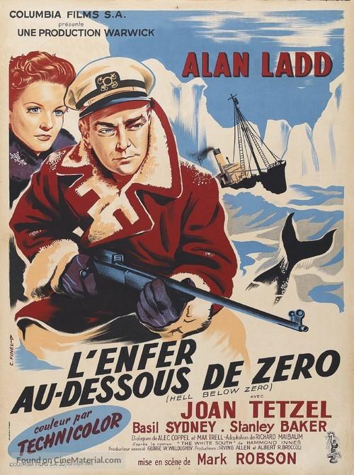 Hell Below Zero - French Movie Poster