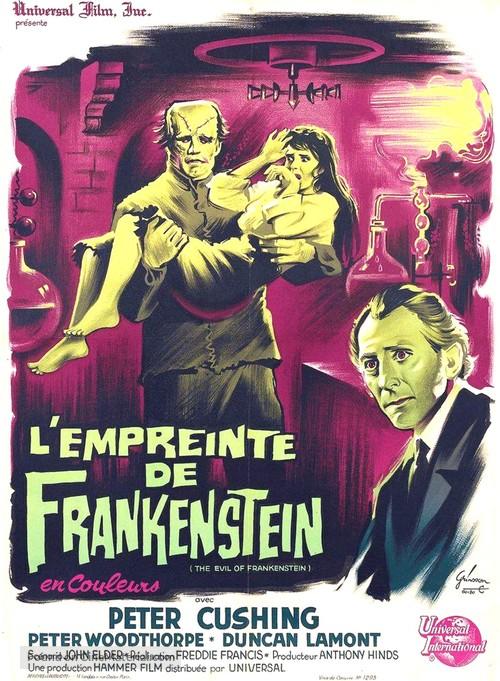 The Evil of Frankenstein - French Movie Poster