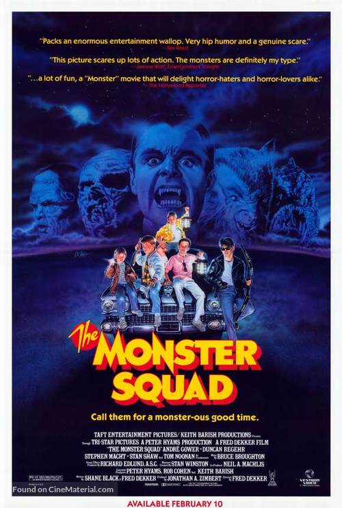 The Monster Squad - Video release movie poster