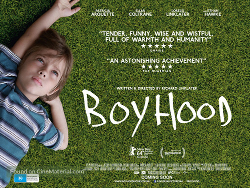 Boyhood - Australian Movie Poster