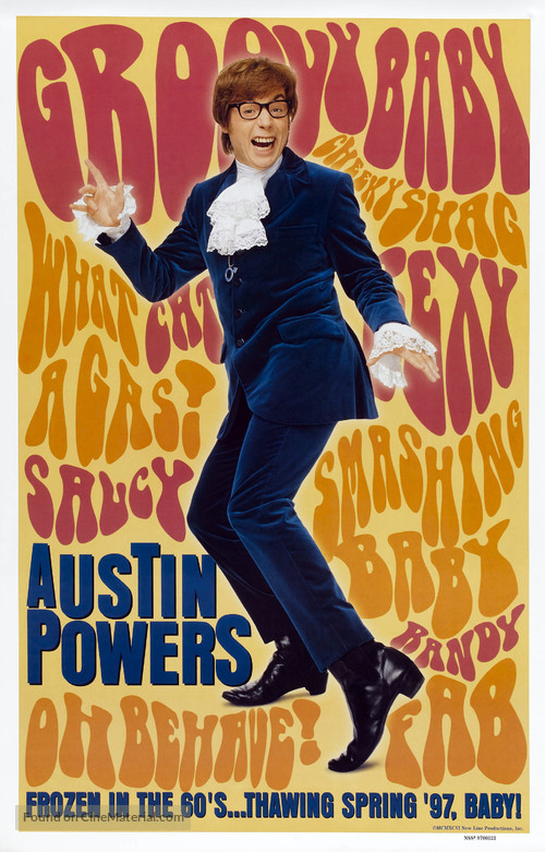 Austin Powers: International Man of Mystery - Advance movie poster