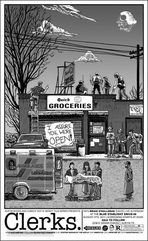 Clerks. - Homage movie poster
