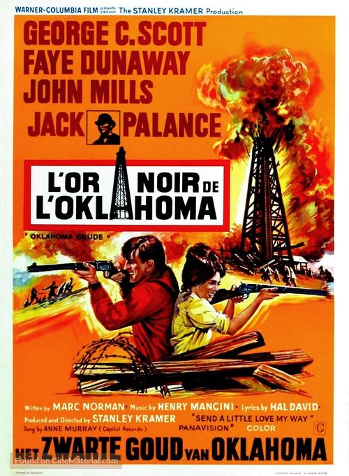 Oklahoma Crude - Belgian Movie Poster