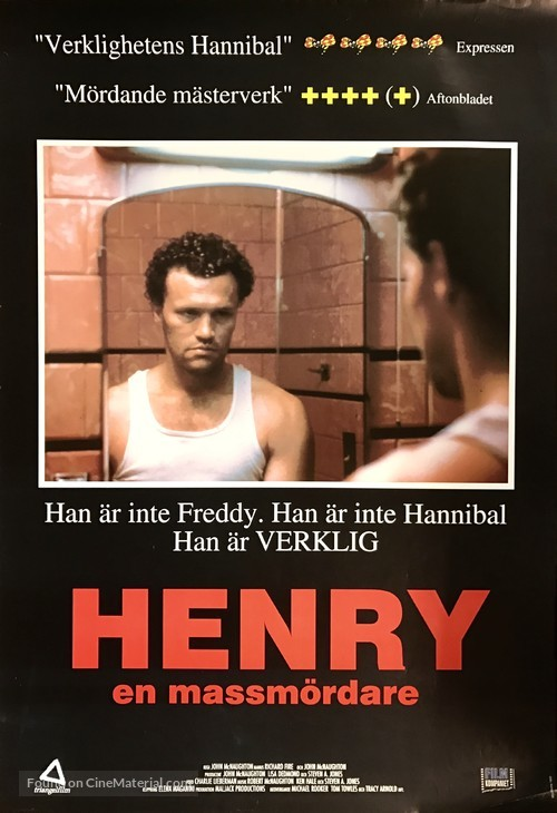 Henry: Portrait of a Serial Killer Swedish movie poster