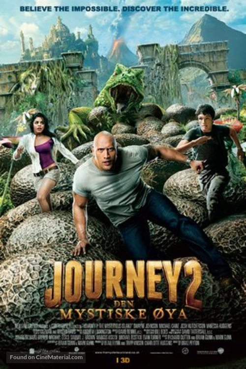 Journey 2: The Mysterious Island - Norwegian Movie Poster
