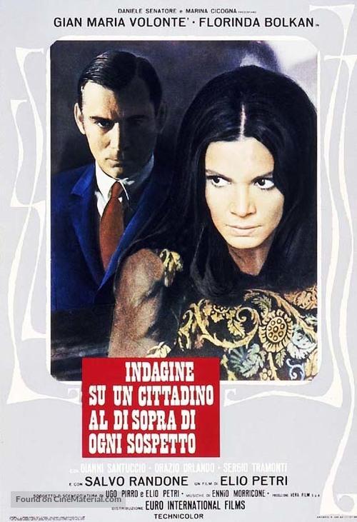 Indagine su un cittadino al di sopra di ogni sospetto - Italian Movie Poster