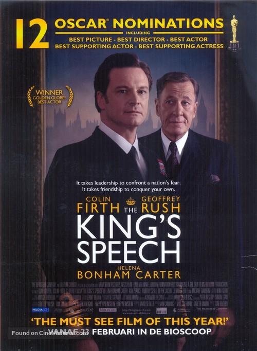The King's Speech - Belgian Movie Poster