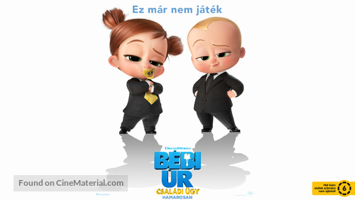The Boss Baby: Family Business - Hungarian Movie Poster