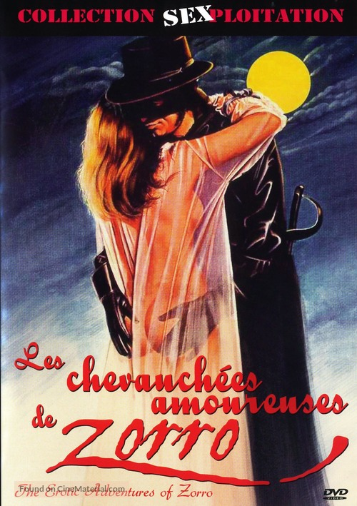 The Erotic Adventures of Zorro - French DVD movie cover