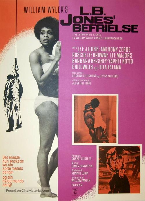 The Liberation of L.B. Jones - Danish Movie Poster