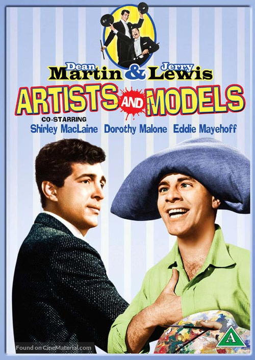Artists and Models - Danish DVD movie cover