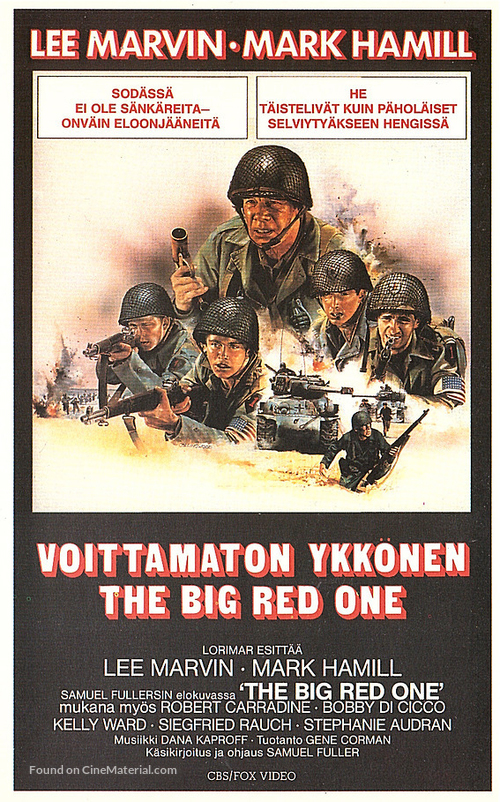 The Big Red One - Finnish VHS movie cover