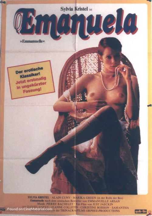 Emmanuelle - German Movie Poster