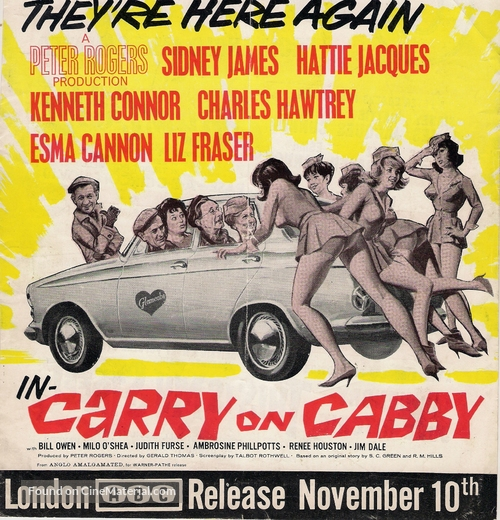 Carry on Cabby - British Movie Poster