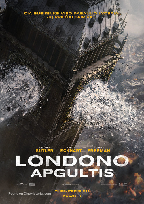 London Has Fallen - Lithuanian Movie Poster