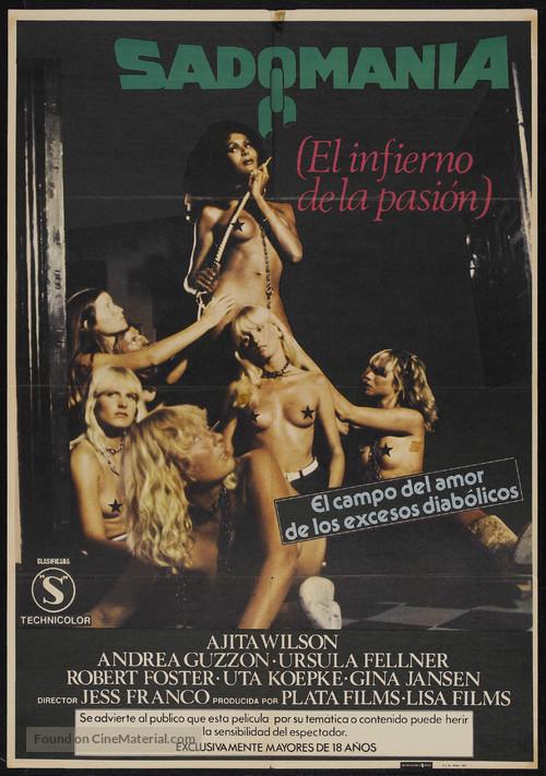 Sadomania - Hölle der Lust - Spanish Movie Poster
