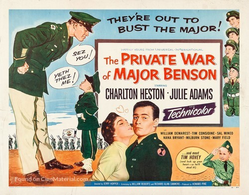 The Private War of Major Benson - Movie Poster
