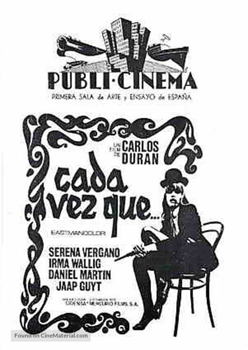 Cada vez que... - Spanish poster