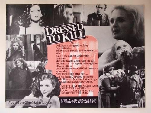 Dressed to Kill - British Movie Poster