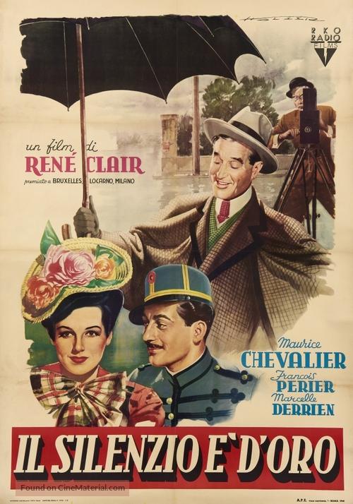 Le silence est d'or, Le - Italian Movie Poster