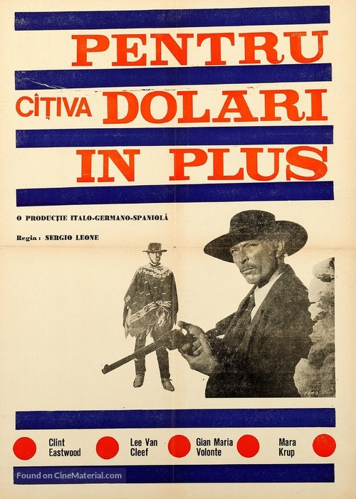 Per qualche dollaro in più - Romanian Movie Poster