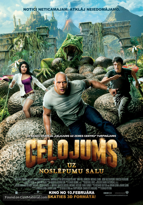 Journey 2: The Mysterious Island - Latvian Movie Poster