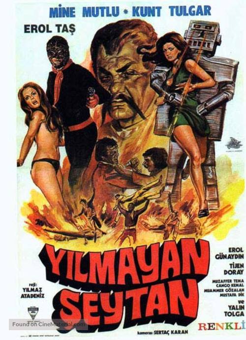 Yilmayan seytan - Turkish Movie Poster