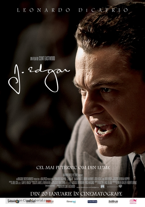 J. Edgar - Romanian Movie Poster