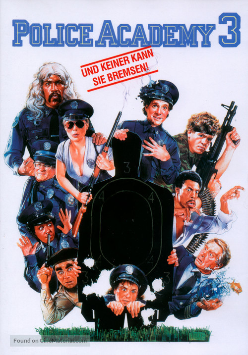 Police Academy 3: Back in Training - German DVD movie cover