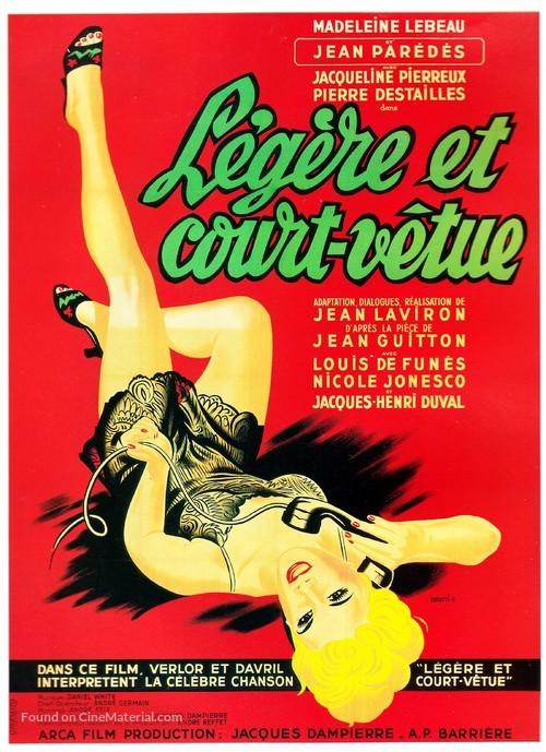 Légère et court vêtue - French Movie Poster