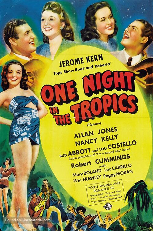 One Night in the Tropics - Movie Poster