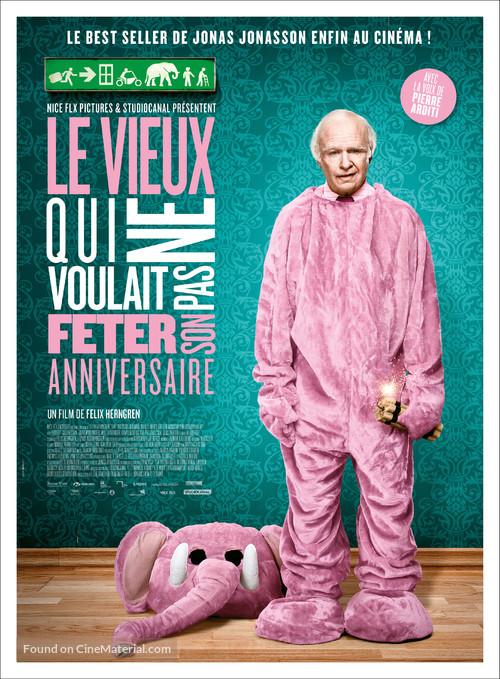Hundraåringen som klev ut genom fönstret och försvann - French Movie Poster